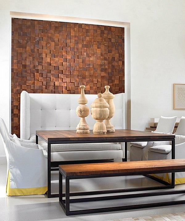 wanddeko wohnzimmer holz. Black Bedroom Furniture Sets. Home Design Ideas