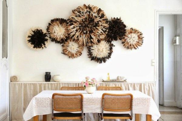 wanddekoration wohnzimmer ideen. Black Bedroom Furniture Sets. Home Design Ideas