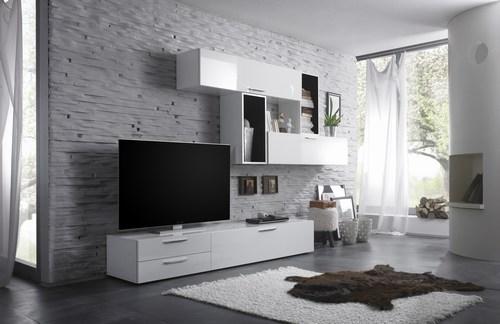 Wohnwand Klassisch Dekoration : Weiße wohnwand dekorieren