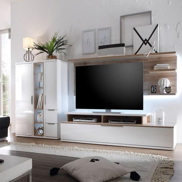 schon moderne wohnzimmer ideen - wohnwand deko ideen