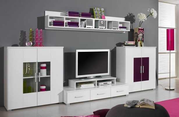 wohnwand dekorieren ideen. Black Bedroom Furniture Sets. Home Design Ideas