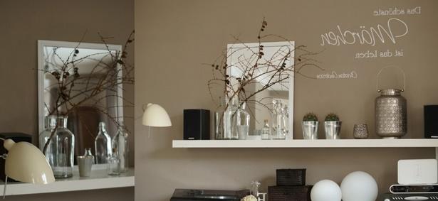 wohnzimmer deko braun. Black Bedroom Furniture Sets. Home Design Ideas