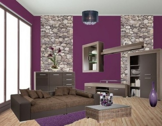 wohnzimmer deko lila. Black Bedroom Furniture Sets. Home Design Ideas