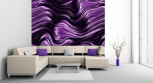 Wohnzimmer deko lila
