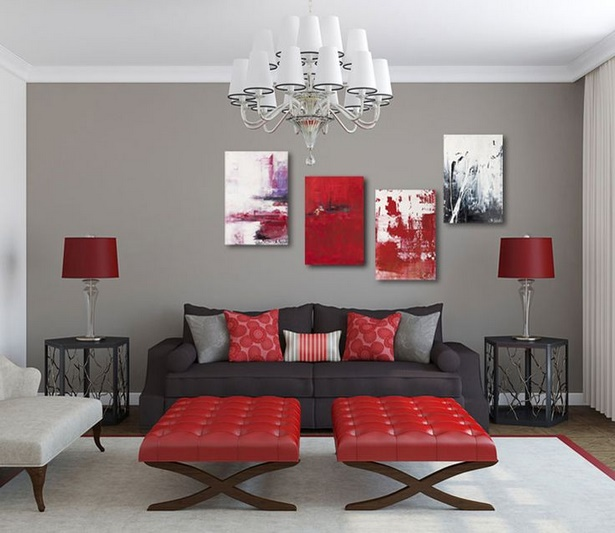 wohnzimmer deko rot. Black Bedroom Furniture Sets. Home Design Ideas