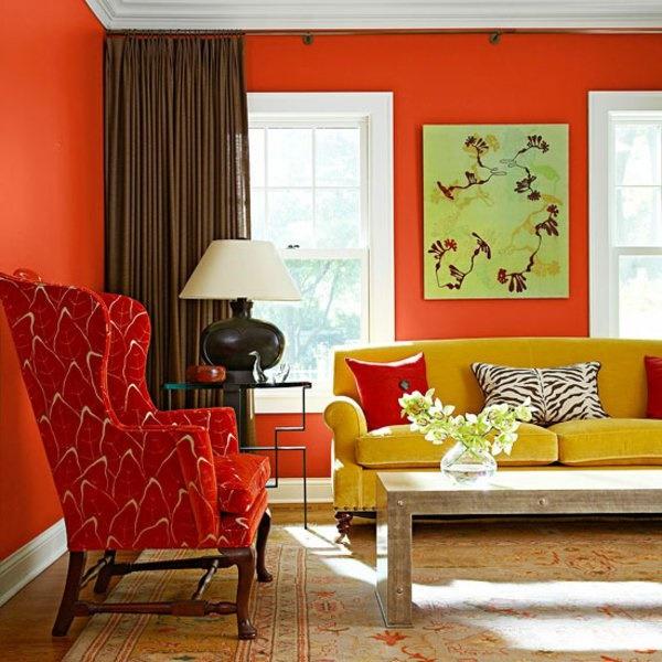 dekoideen wohnzimmer rot