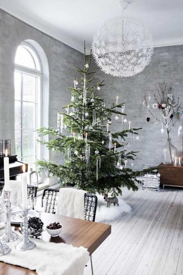 Wohnzimmer deko silber - Weihnachten wohnzimmer ...