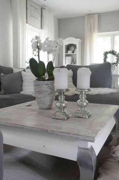 Wohnzimmer deko weiß