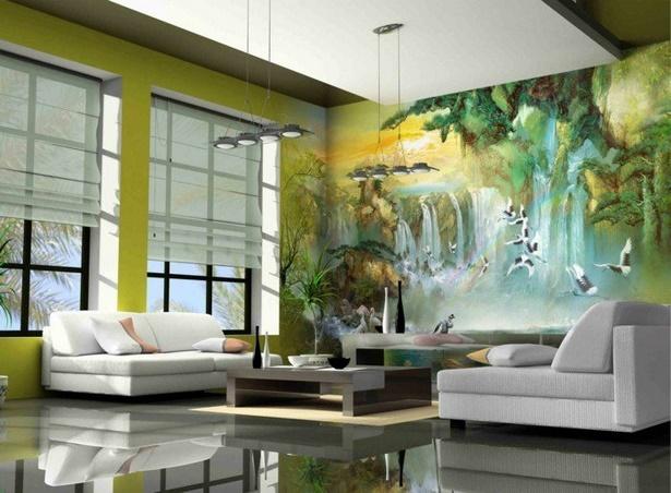 Dekoration wohnzimmer grun