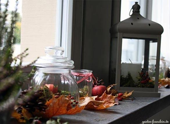 Wohnzimmer herbstlich dekorieren for Dekoration innen