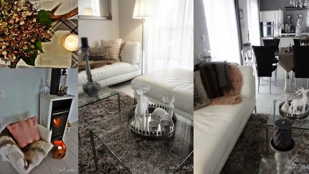 wohnzimmer herbstlich dekorieren. Black Bedroom Furniture Sets. Home Design Ideas