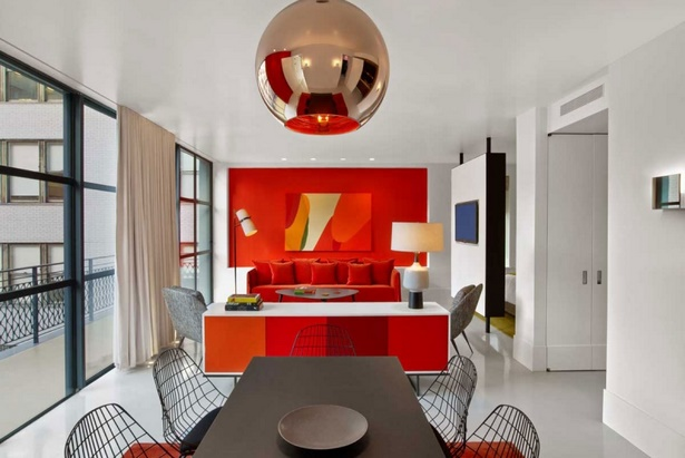 wohnzimmer in rot gestaltet. Black Bedroom Furniture Sets. Home Design Ideas
