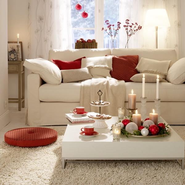 Wohnzimmer in rot gestaltet for Wohnzimmer rot
