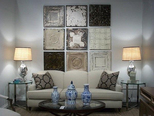 Wohnzimmer wand dekorieren