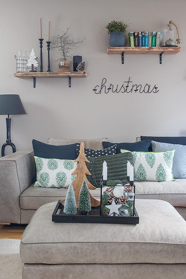 wohnzimmer weihnachtlich gestalten