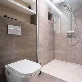 kleines bad offene dusche. Black Bedroom Furniture Sets. Home Design Ideas