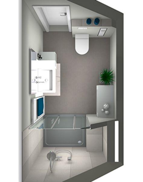 kleines badezimmer mit schr ge. Black Bedroom Furniture Sets. Home Design Ideas