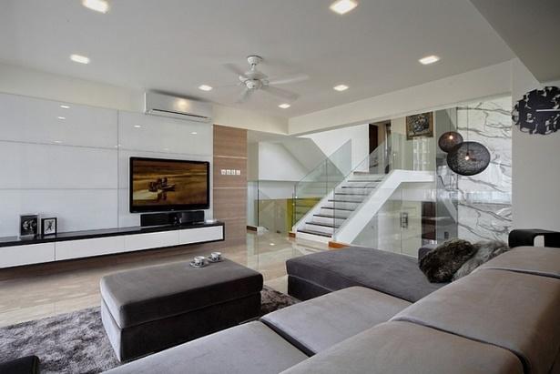 Modernes wohnzimmer weiß