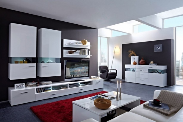 wohnzimmer ideen grau wei. Black Bedroom Furniture Sets. Home Design Ideas