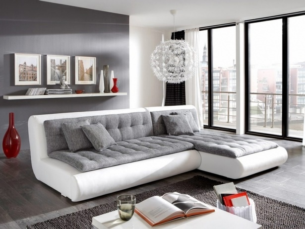 wohnzimmer wei grau holz. Black Bedroom Furniture Sets. Home Design Ideas