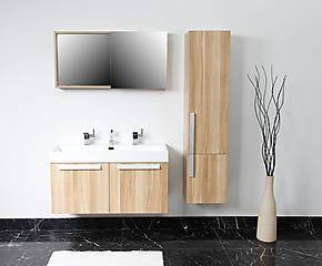 Holz Badezimmer Style : Badezimmer spiegelschrank holz