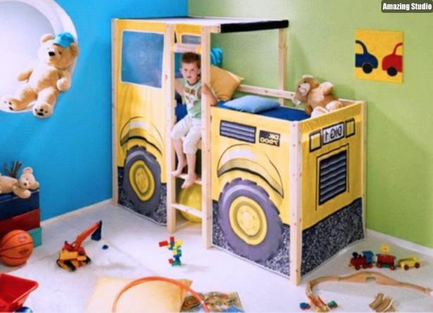 Kinderbett Mit Dekoration Einrichtungsideen Fur Jungen Und Madchen Kinderzimmer Einrichten