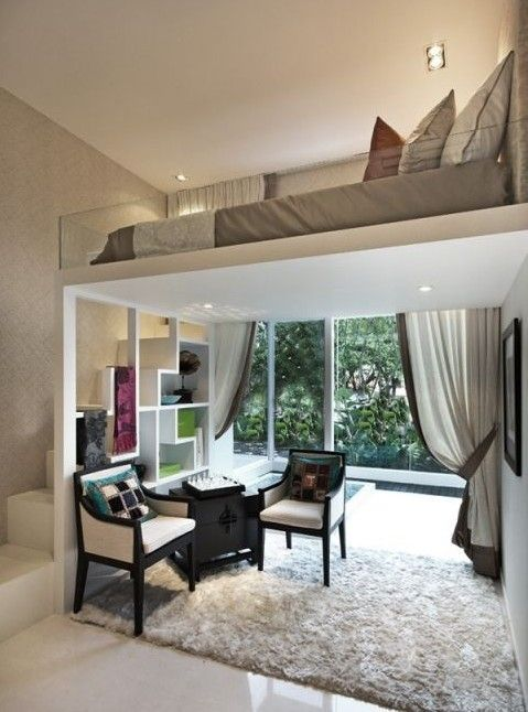 1 raum wohnung einrichtungsideen for Wohnung modern gestalten