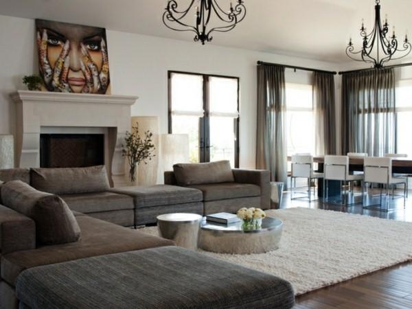 bilder wohnzimmer sch ner wohnen. Black Bedroom Furniture Sets. Home Design Ideas