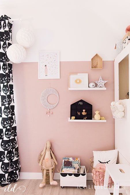 Kinderzimmer altrosa - Kinderzimmer deko wand ...
