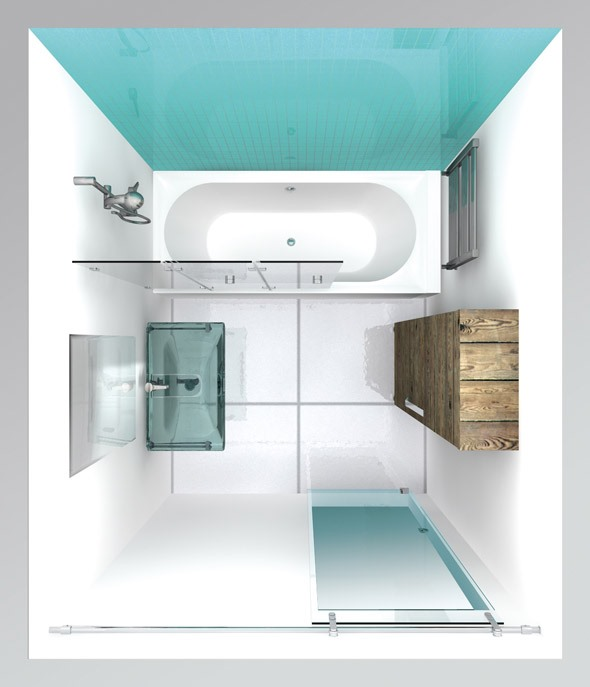 Kleines duschbad gestalten for Bad gestalten mit fliesen