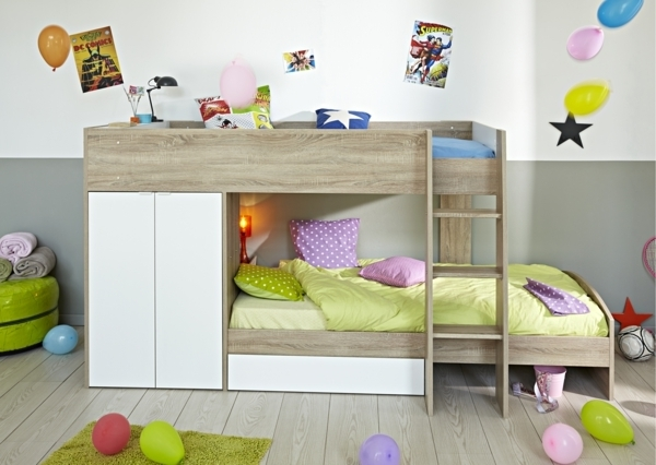 kleines kinderzimmer f r zwei gestalten. Black Bedroom Furniture Sets. Home Design Ideas