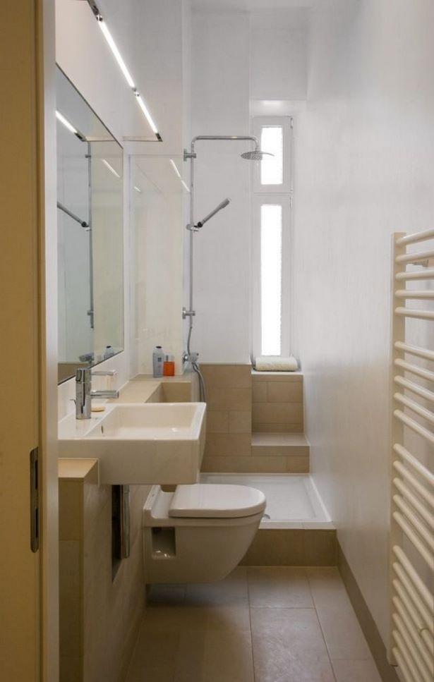 kleines schmales badezimmer gestalten. Black Bedroom Furniture Sets. Home Design Ideas