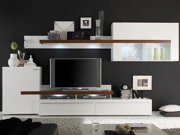 moderne wohnzimmer schrankwand. Black Bedroom Furniture Sets. Home Design Ideas