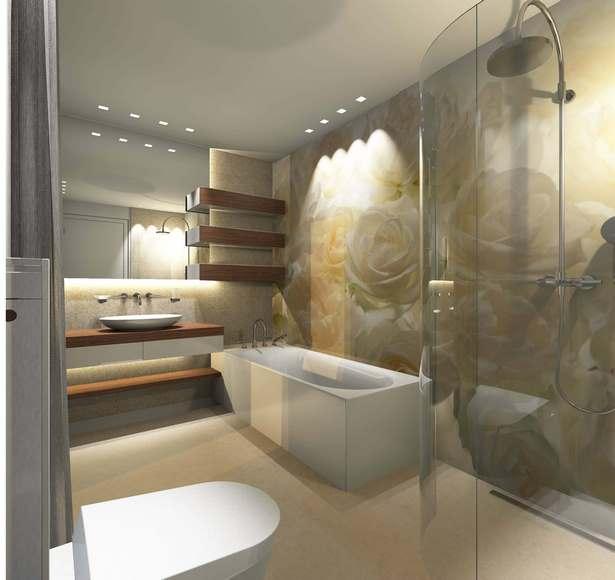 modernes g stebad mit dusche