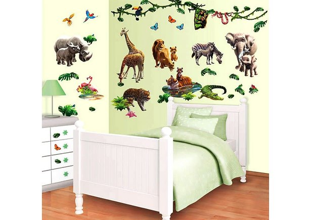 safari kinderzimmer dekoration. Black Bedroom Furniture Sets. Home Design Ideas