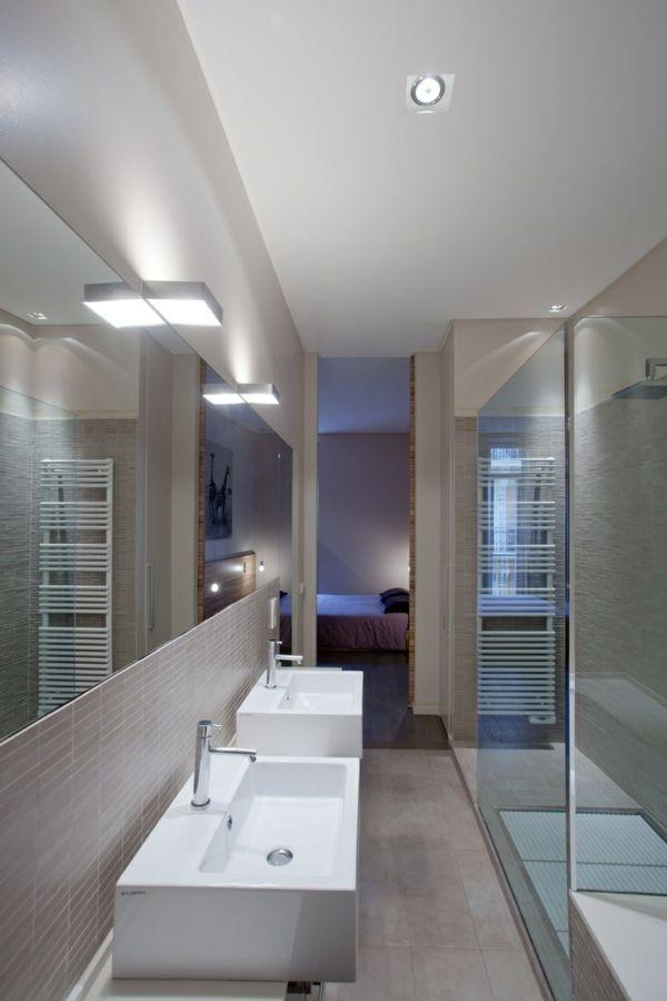 schmales badezimmer einrichten. Black Bedroom Furniture Sets. Home Design Ideas