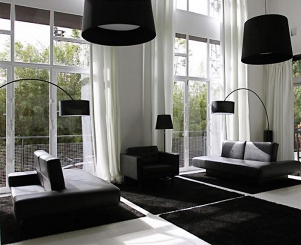 schwarz wei wohnzimmer ideen. Black Bedroom Furniture Sets. Home Design Ideas