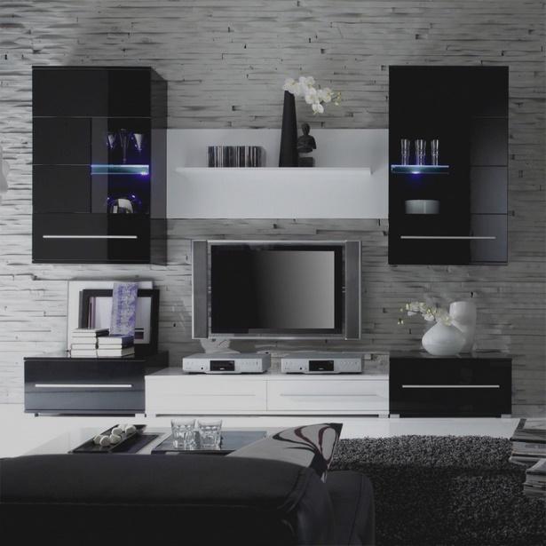 schwarz wei223 wohnzimmer ideen
