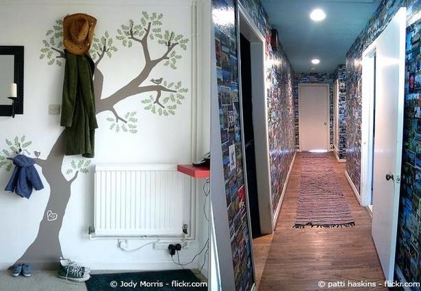 wandgestaltung im flur. Black Bedroom Furniture Sets. Home Design Ideas