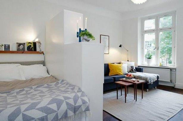 wohn und schlafzimmer in einem einrichten. Black Bedroom Furniture Sets. Home Design Ideas