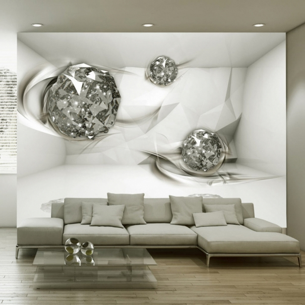 wohnzimmer tapete modern. Black Bedroom Furniture Sets. Home Design Ideas