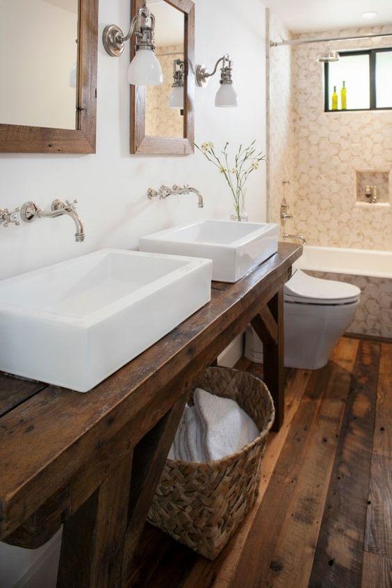 Badezimmer ideen rustikal