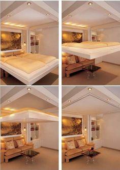 Bett im wohnzimmer ideen