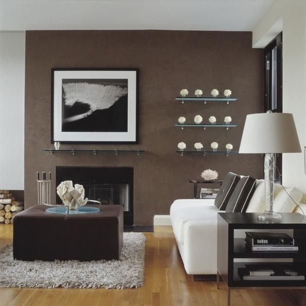 Wohnzimmereinrichtung Ideen braune wohnzimmer ideen