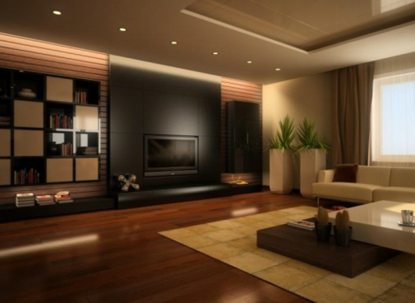 braune wohnzimmer ideen. Black Bedroom Furniture Sets. Home Design Ideas