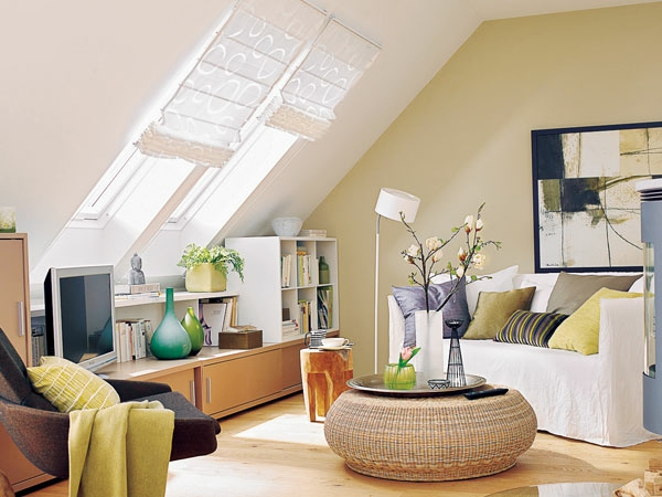 dachgeschoss wohnzimmer einrichten. Black Bedroom Furniture Sets. Home Design Ideas