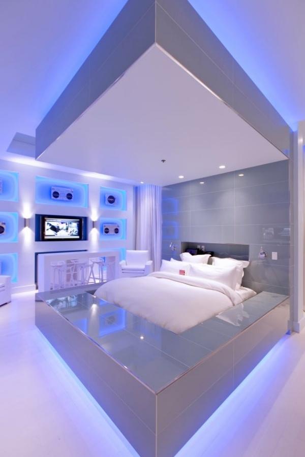 Eingerichtete schlafzimmer