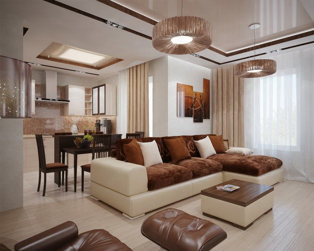 Einrichtungsideen wohnzimmer braun