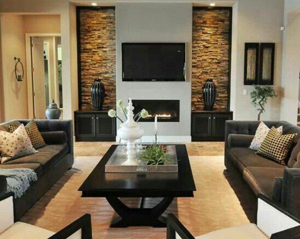 40 stilvolle ideen fr einrichtung in ihrer wohnung wohnzimmer design ideen modern dunkle farben - Farben Ideen Fur Wohnzimmer