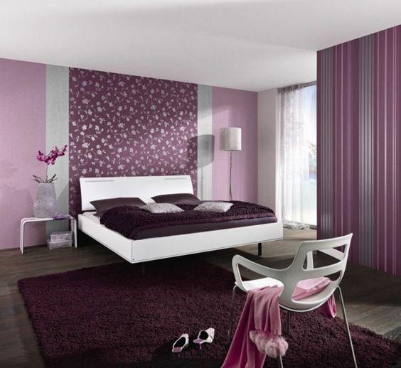 tapeten farben ideen lila schlafzimmer gestaltung komfortabel klassisch landesinnere begriff - Gestaltung Schlafzimmer Farben
